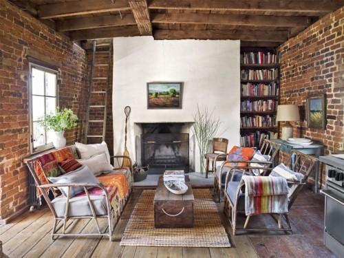 Möbel Holzkiste Wohnzimmer im Landhausstil