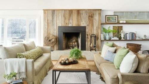 Modernes Wohnzimmer im Landhausstil bequeme Möbel