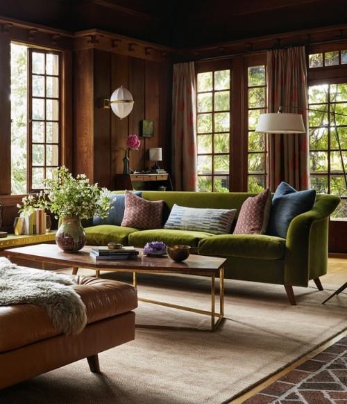 Raumdetails verschiedene Texturen warme Farben ein sehr ansprechendes Wohnzimmer