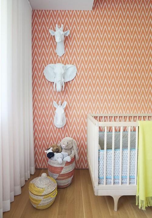 Raumgestaltung Ideen Deko Figuren für die Wand in Weiß für Kinderzimmer