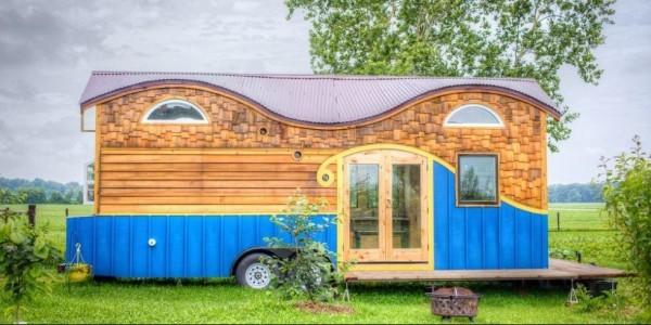 Tiny Houses auffälliges Design kleines Haus auf Rollen