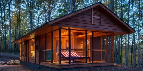 Tiny Houses ein solches mitten im Wald romantisch und entspannend