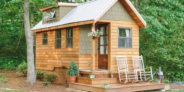 Tiny Houses inmitten der Natur aus Holz kleiner wohnen