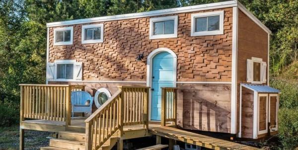 Tiny Houses interessantes Design große Veranda