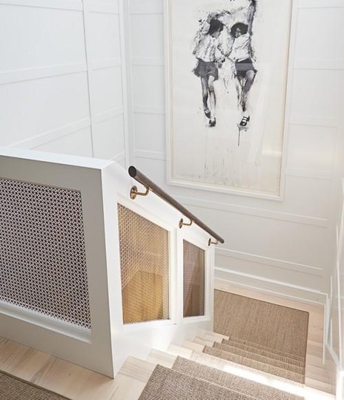 Treppenhaus Wandbilder interessantes Design Raumdetails