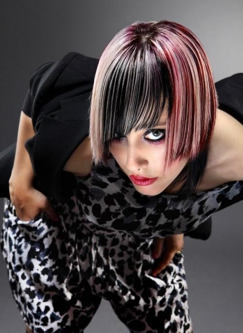 asymmetrische Frisuren ausgefallen