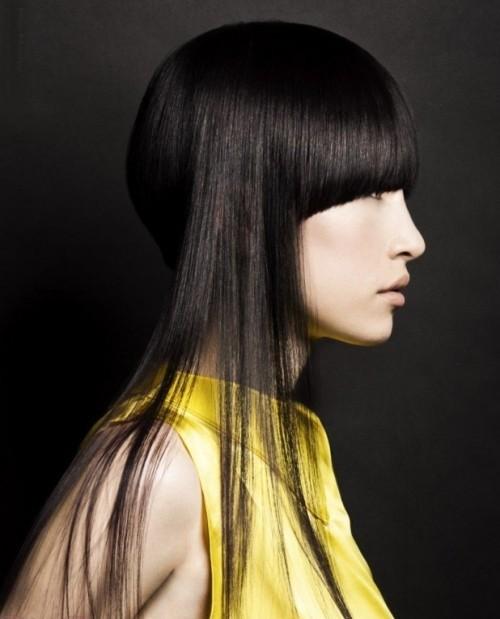 asymmetrische Frisuren dünne seiten