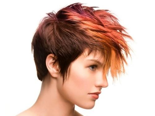 asymmetrische Frisuren feuer