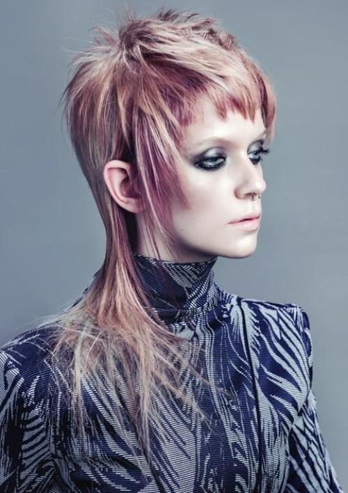 asymmetrische Frisuren mähnenform