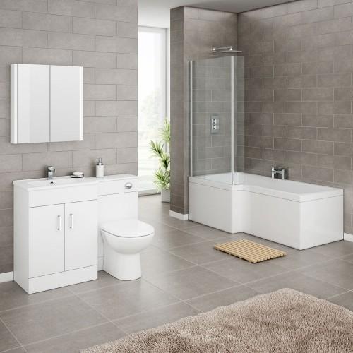 badezimmergestaltung tolle graue wände