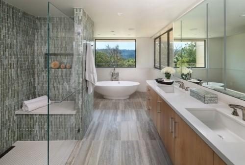 badezimmergstaltung schöne naturaussichten