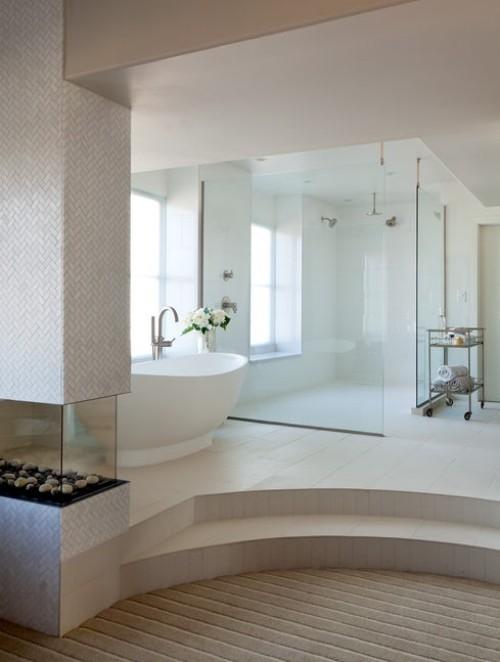 badezimmergstaltung weiße badezimmereinrichtung
