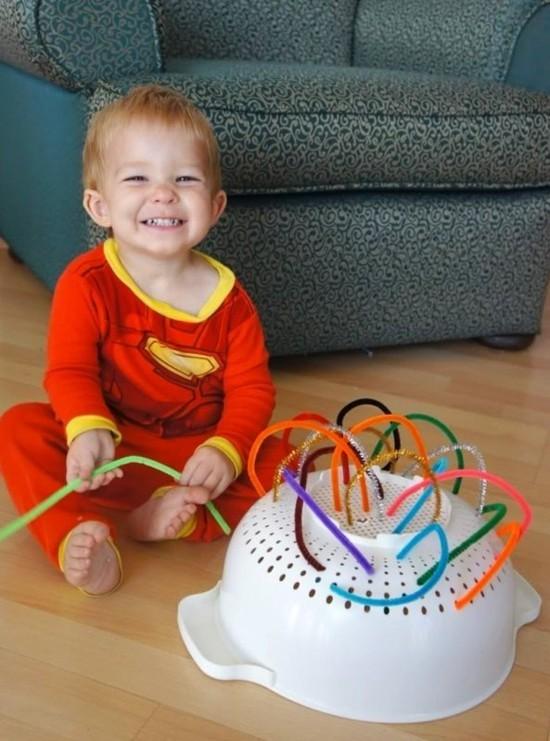 basteln mit pfeifenputzer kleinkinder spiele