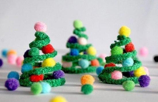 basteln mit pfeifenputzer weihnachtsdeko selber machen