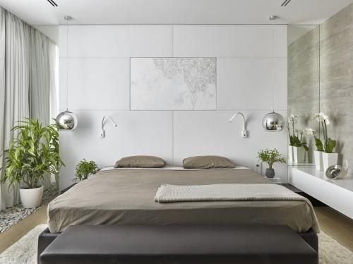 beige und grau für die schlafzimmereinrichtung