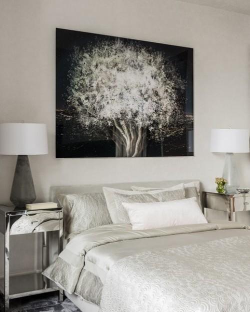 Dekoration In Weiß Schlafzimmereinrichtung