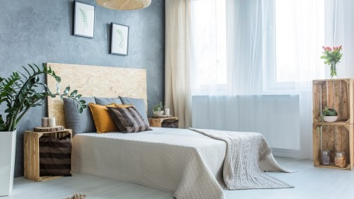 einrichtungsideen wände in grau und blau