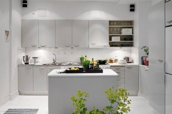 geradliniges design küche einrichten im scandy style