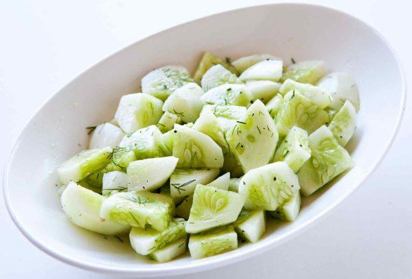 gesund leben gurken salat