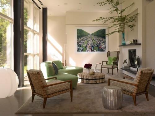 grün und braun sofa design