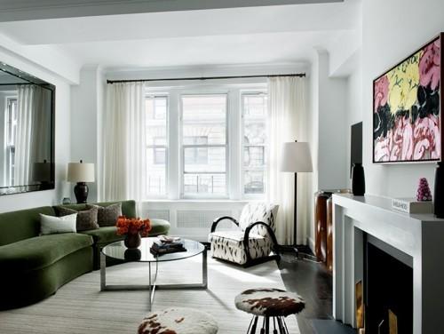 grüne farbe sofa design