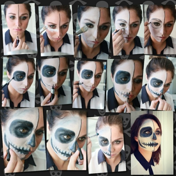 Make-up Halloween faces - 30 simple examples with a guaranteed scary effect