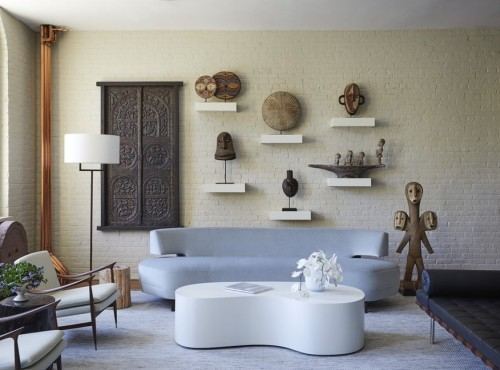 helllila und weiß sofa design