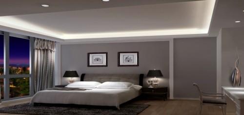 hohe decke tolle schlafzimmereinrichtung