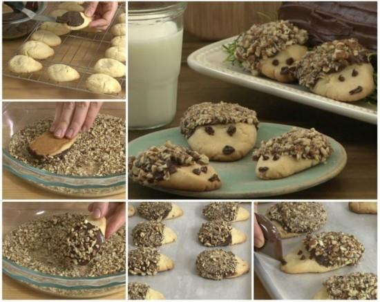 igel basteln cookies backen