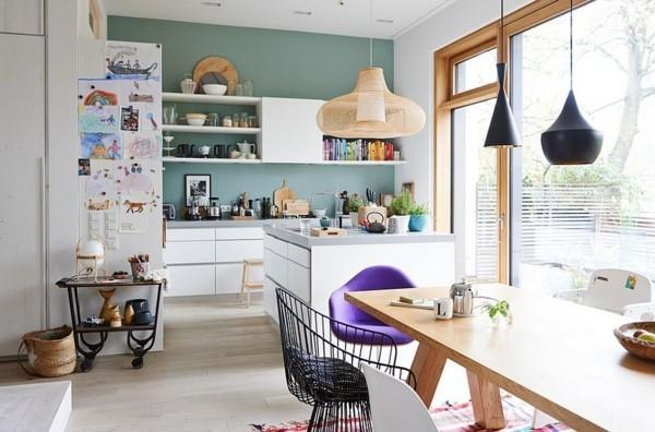 küche einrichten im scandy style