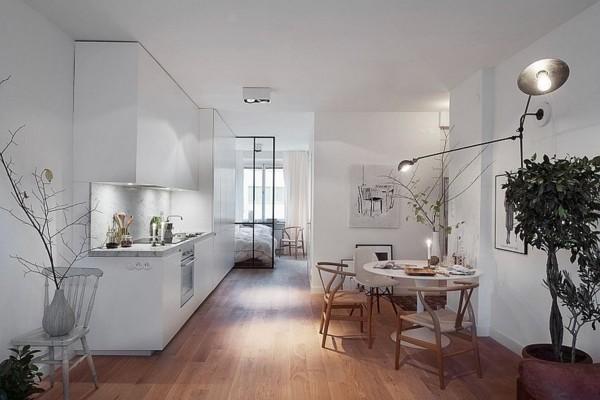 küche einrichten scandi style beleuchtung