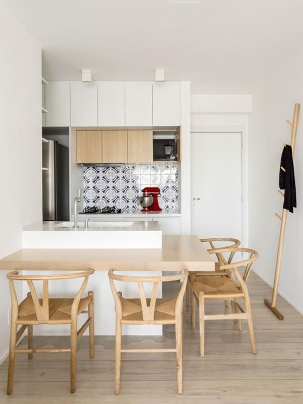 kleine küche einrichten im skandinavischen stil