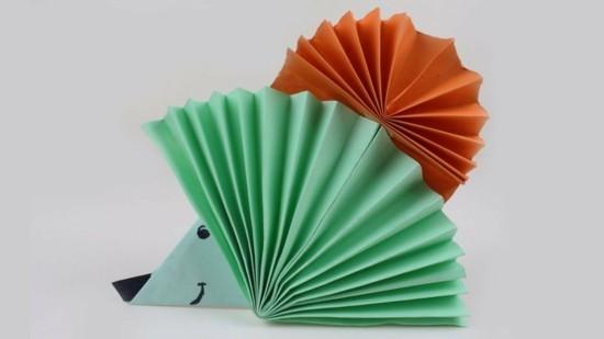 origami igel basteln ideen