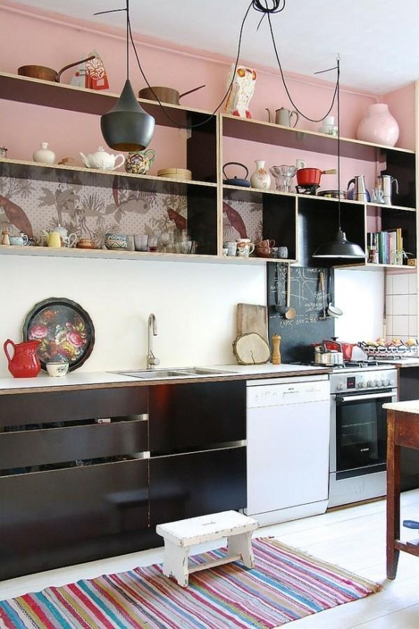 rosa wandfarbe scandy küche einrichten-resized