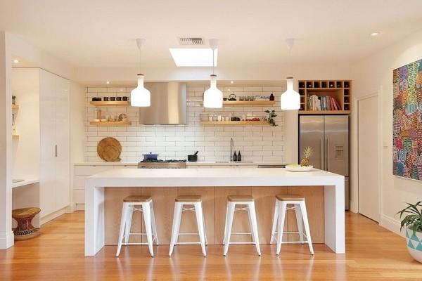 scandi style küche einrichten kücheninsel weiß