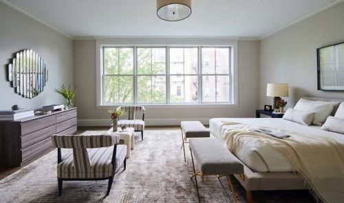 schlafzimmereinrichtung beige und braun