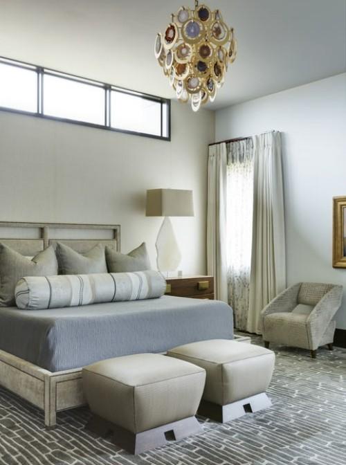 schlafzimmereinrichtung blau und beige neu