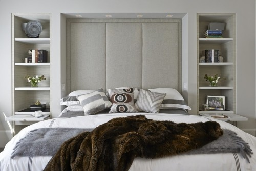 schlafzimmereinrichtung fell und andere textilien