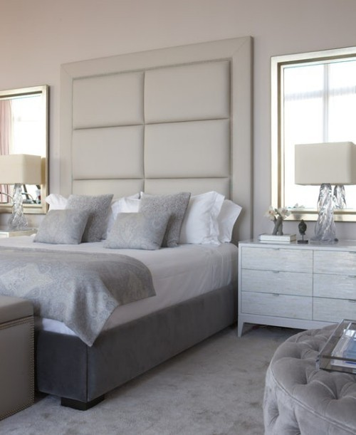 schlafzimmereinrichtung moderne pastells