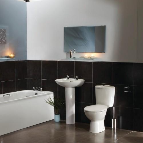 schwarz weiße wände badezimmergestaltung