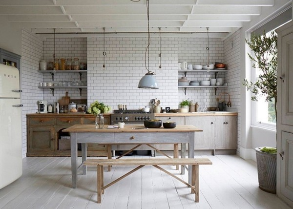 skandinavisch rustikale küche einrichten