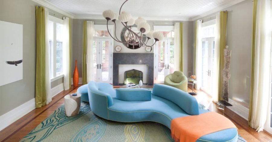 Ein Einmalig Kommunikativer Trend: Ovales Sofa Design Für Kleine Und Große  Räumlichkeiten