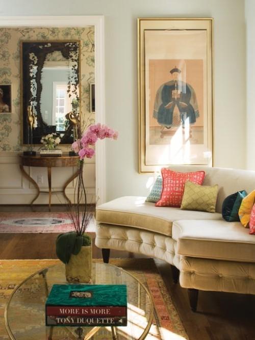 sofa design gold und braun