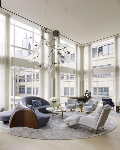 sofa design grau und braun