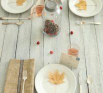 Puristische Tischdeko im Herbst – 20 Inspirationen für ein stimmungsvolles Ambiente