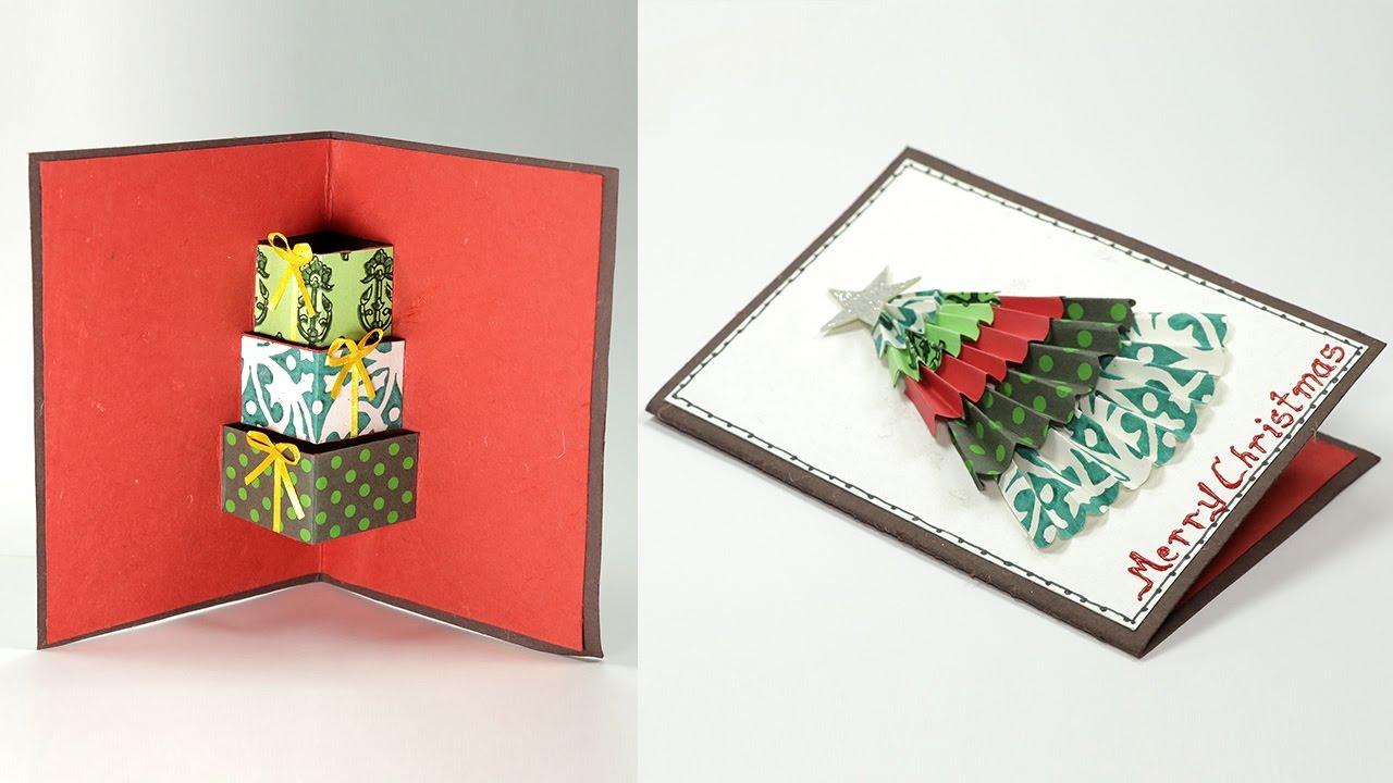 3 d gestaltung weihnachtskarten basteln