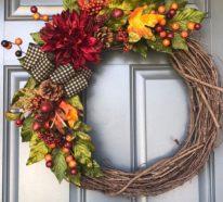 Herbstrkränze binden – aktuelle 60 Ideen für den Herbst