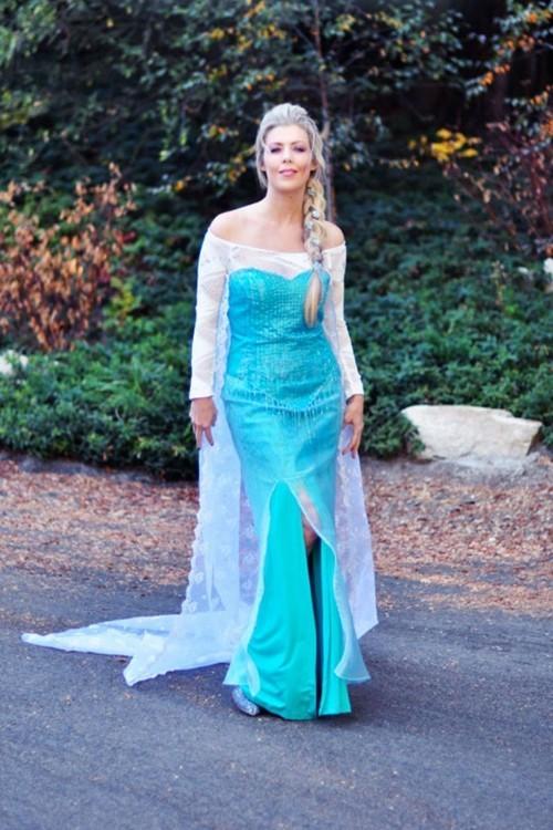 Elsa von Disney Film Frozen interessante Halloween Kostüme