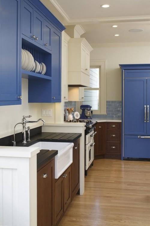 Farbenfroh und ansprechend Marineblau mit Weiß stilvoller Look