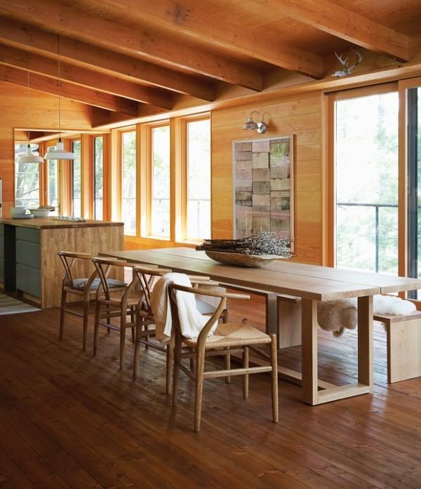 Gemütlichkeit pur Esszimmer Küche viel Holz sehr zusprechend